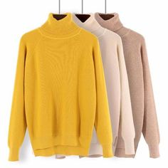 GIGOGOU Loose Turtleneck Women Autumn Winter Sweater Thick Warm Pullover  and Sweater Soft Long Sleeves Jumper Femme Pull d12d14e29
