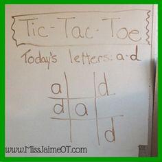 tic tac toe handwriting #functionalskillsforkids