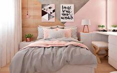 Apartment Bedroom Decor, New Room, Modern House Design, Room Inspiration, Kitchen Decor, Kids Room, Sweet Home, Bed Spreads, Rose Gold