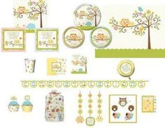 owl baby girl shower - Google Search