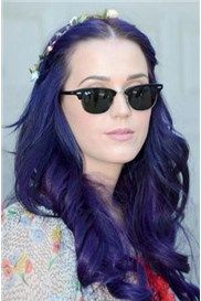 Custom Katy Perry Hairstyle Long Wavy 100% Human Hair Lila Hand-Tied Lace Front Wig about 20 Inches