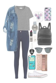 """untitled #124"" by rosita562 ❤ liked on Polyvore featuring Madewell, Chicnova Fashion, Converse, CellPowerCases, Urban Decay, Ray-Ban, Topshop, Elizabeth and James and Komono"