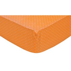 Brighten up your baby's room with this stylish design, featuring fun colors and durable materials. Your child's bed will be soft and cozy with this Orange Dot Fitted Crib Sheet by Trend Lab. Sheet is