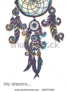 Card with dream catcher