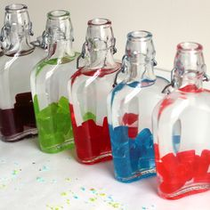 Jolly Rancher Vodka is one of the easiest and quickest candy liquor infusions you can do. Check out my simple, four-step tutorial. It makes a great gift, too. Candy Alcohol Drinks, Liquor Candy, Liquor Drinks, Vodka Drinks, Fun Drinks, Alcoholic Beverages, Mixed Drinks, Fruity Drinks, Refreshing Drinks