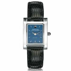 """Pennsylvania State University Women's Swiss Watch - Blue Quad Watch by M.LaHart & Co.. $229.00. Classic American style by M.LaHart. Three-year warranty.. Swiss-made quartz movement with 7 jewels.. Attractive M.LaHart & Co. gift box.. Officially licensed by Pennsylvania State University. The Pennsylvania State University women's steel watch featuring Penn State shield at 12 o'clock and """"Pennsylvania State University"""" inscribed below on blue dial. Swiss-made quartz movement wi..."""