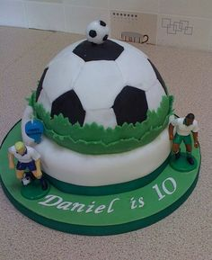 Soccer theme 10th birthday cake.JPG
