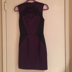 😘💋Sexy cut out cleavage dress purple and black New listing! Worn once! Perfect condition. Very flattering fit. Shows all the curves! Deep purple and black. Dresses Mini