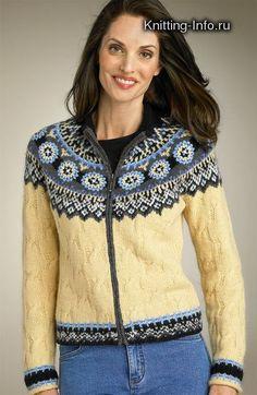 свитер жаккард спицами - Поиск в Google