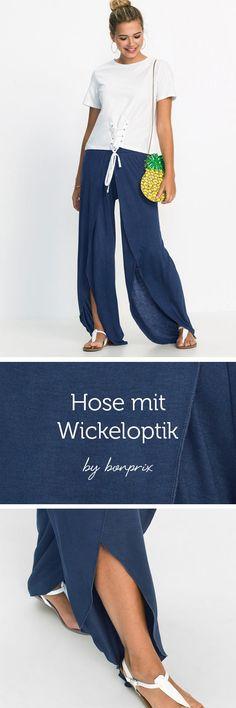 Wickel ist total im Trend. Ob Kleid, Top oder Hose - die Falten können nicht groß genug sein.
