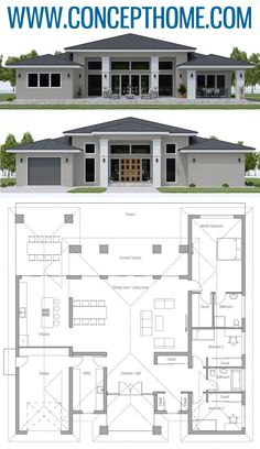 arquitectonico House Plan House Plan, Home Plan, Floor Plan, Architecture, House Layout Plans, Family House Plans, Dream House Plans, Modern House Plans, House Layouts, House Floor Plans, Bungalow Floor Plans, Architectural House Plans, Casas Containers