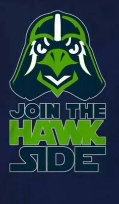 """Seattle Seahawks """"Hawk Side"""""""