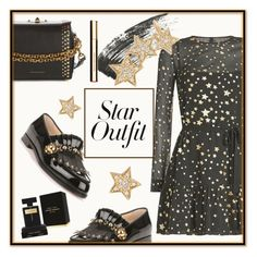 """""""Choose Gold, be a Star"""" by pinkdream235 ❤ liked on Polyvore featuring Alexander McQueen, RED Valentino, Christian Louboutin, Charlotte Tilbury, Alinka and Narciso Rodriguez"""