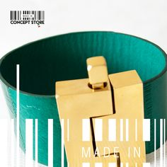 Green & gold texture by MADE IN designers. #Bracelet #green #gold #texture #ConceptStore #Boutique #MexicanDesign