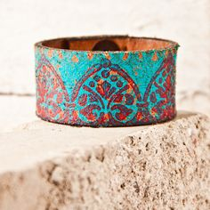 Turquoise Jewelry // Leather Cuffs - Bracelet - Wristbands - Boho Fashion - Hippie Accessories