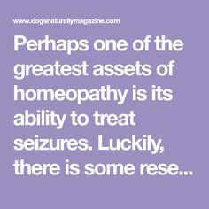 Perhaps one of the greatest assets of homeopathy is its ability to treat seizures. Luckily, there is some research to back this claim up. Varshney et al (...)