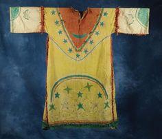 Lakota Muslin Ghost Dance Dress.  Isn't this a stunner? Love the butterflies on the sleeves.