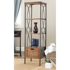 Safavieh Olivia Etagere With Drawer/2 Boxes.