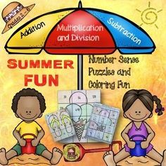 Help keep learning fun for your students throughout the summer break with these ten engaging number puzzle and coloring fun activities.  www.teacherspayte...
