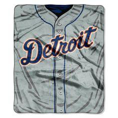 "Detroit Tigers 50""x60"" Royal Plush Raschel Throw Blanket - Jersey Design"