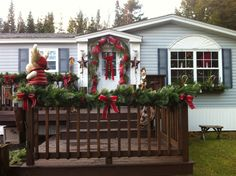 Decorate deck for Christmas