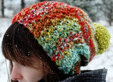 I love the colors in this hat and the thickness of the rim. Just the thing to brighten a dark winter day.