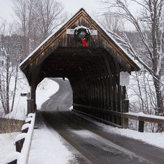 The Meriden Covered Bridge, named for the town of Meriden, New Hampshire (USA), is also called the Mill or Mill Hollow Covered Bridge. It was built in 1880 by one of the area's well known bridge builders, James Tasker. The original cost? $465