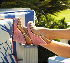 Lilly Pulitzer Spring '13- Sophie Strappy Wedges