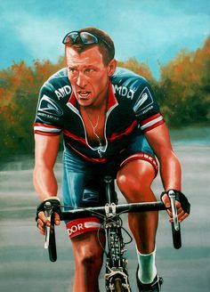 Lance Armstrong Painting