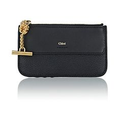 Chloé Women's Joe Coin Purse (4.445 ARS) ❤ liked on Polyvore featuring bags, wallets, black, zipper coin purse, zipper change purse, zip coin purse, coin pouch and chain wallet