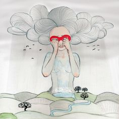 Wolkenfrau Wonderful Things, My Love, Create, Illustration, Clouds, Woman, My Boo, Illustrations
