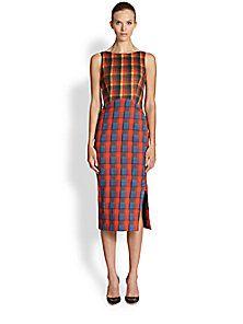 Altuzarra - Plaid Shadow Dress