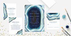 Geology Wedding Inspiration Board | SouthBound Bride