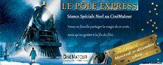 """Séance de noël """"Le Pôle express"""" au Cinématour le 21 décembre 2016 : http://clun.yt/2hZJDRz"""