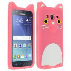 Coque souple Samsung Galaxy J5 - Minou le chat rose
