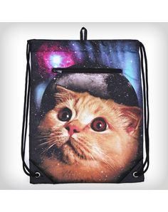 Space Cat Insulated Cinch Bag