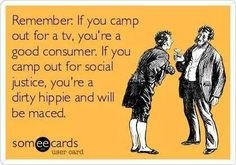 LOVE THIS!  What cause would you camp out for?