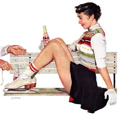 Vintage Illustration by Joe Bowler | Pepsi Ad Campaign 1950's