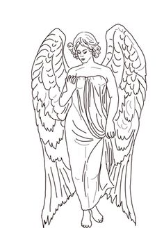 Guardian Angel Coloring Page From Church Category Select 24104 Printable Crafts Of Cartoons Nature Animals Bible And Many More