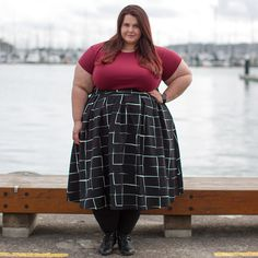 5089aa0d390d New Zealand plus size fashion blogger Meagan Kerr wears Perfect T and Kate  Midington Skirt from Society+