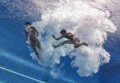Mondiali di nuovo, lo spettacolo dei tuffi visto dall'acqua