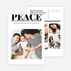 Peace Statement Holiday Cards from Paper Culture