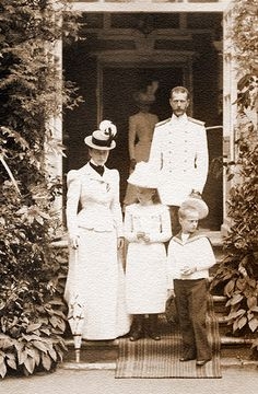 bulletproofjewels:  Grand Duchess Ella Feodorovna, with her husband Grand Duke Serge Alexandrovich and their 'adoptive' children, Grand Duchess Marie Pavlovna, the younger, and Grand Duke Dmitri Pavlovich. c. 1900.