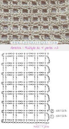 Filet Crochet Charts, Crochet Motifs, Crochet Diagram, Crochet Stitches Patterns, Crochet Designs, Crochet Lace, Stitch Patterns, Knitting Patterns, Crochet Bedspread Pattern