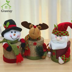 Candy Gift With Decoration Eve Round Christmas Sundries Box Christmas Box Doll , Elf Christmas Decorations, Easy Christmas Ornaments, Christmas Gift Box, Christmas Candy, Christmas Snowman, Simple Christmas, Kids Christmas, Christmas Crafts, Snowman Crafts