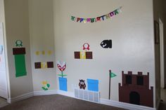 Image detail for -Obsessively Stitching: A Super Mario Birthday Party Super Mario Birthday, Mario Birthday Party, Super Mario Party, Birthday Parties, Birthday Ideas, 7th Birthday, Kids Party Decorations, Party Ideas, Gift Ideas