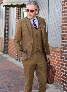 1374583c21 Vintage Glasgow Brown Tweed Suit   StudioSuits  Made To Measure Custom Suits