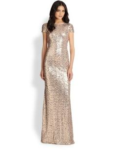 ML Monique Lhuillier - Strapless Sequined Mermaid Gown - Saks.com Večerné  Róby 6735be78e0