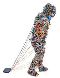 """Saatchi Art Artist Patrick van Roy; Sculpture, """"Head in my Butts / Cisco"""" #art"""
