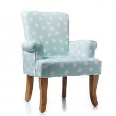 Adairs Kids Hampton Chair Mint Spot, kids armchair, armchair for kids